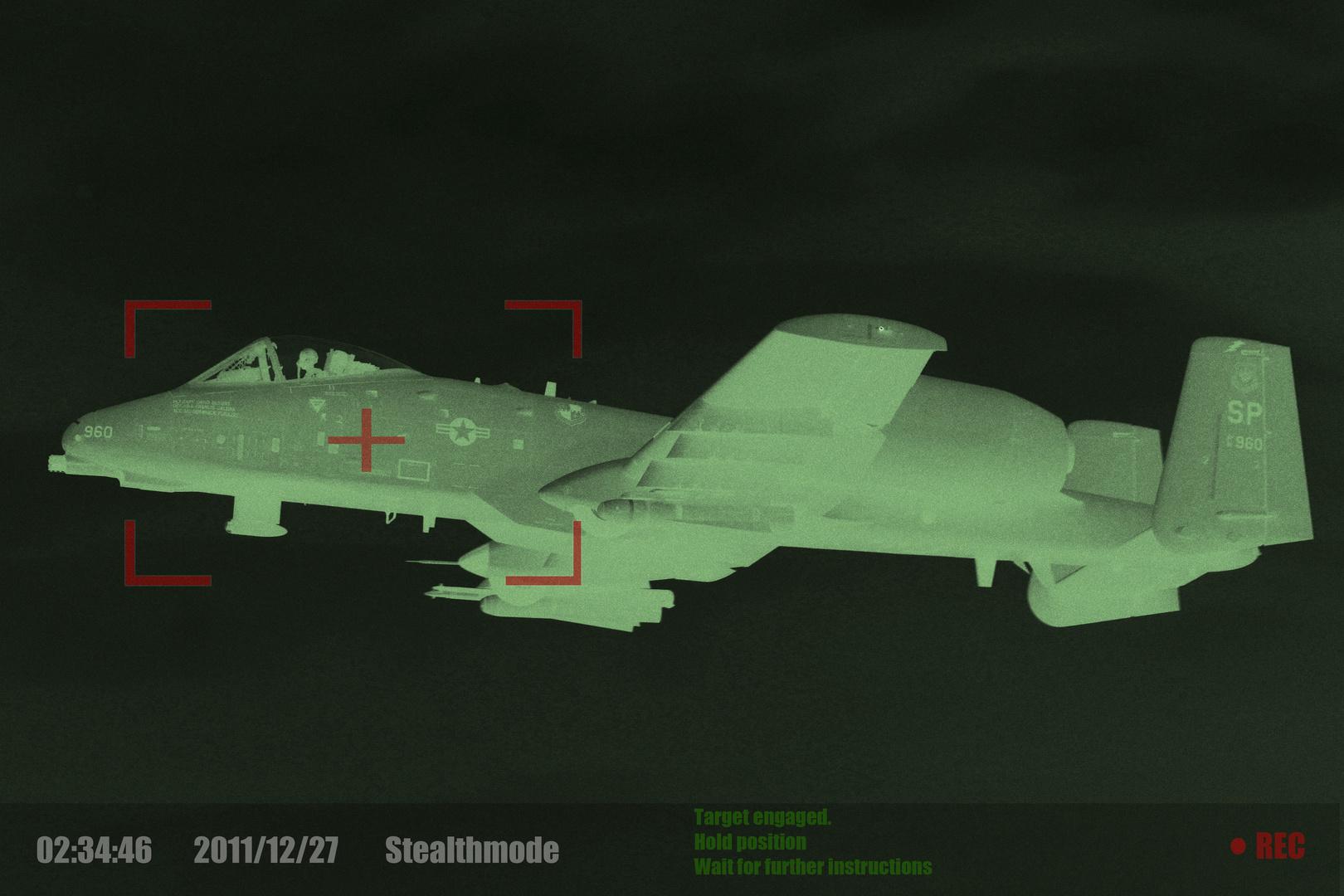 A-10 Warzenschwein im Stealthmode