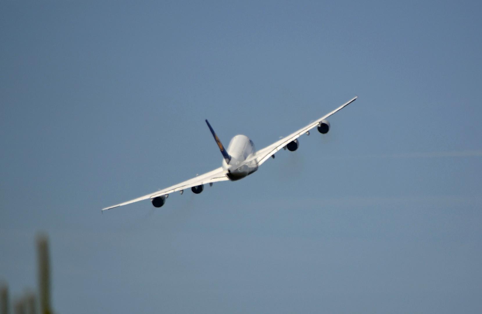 A 380 Departure