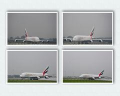 A 380 Emirates Take Off in strömendem Regen 02