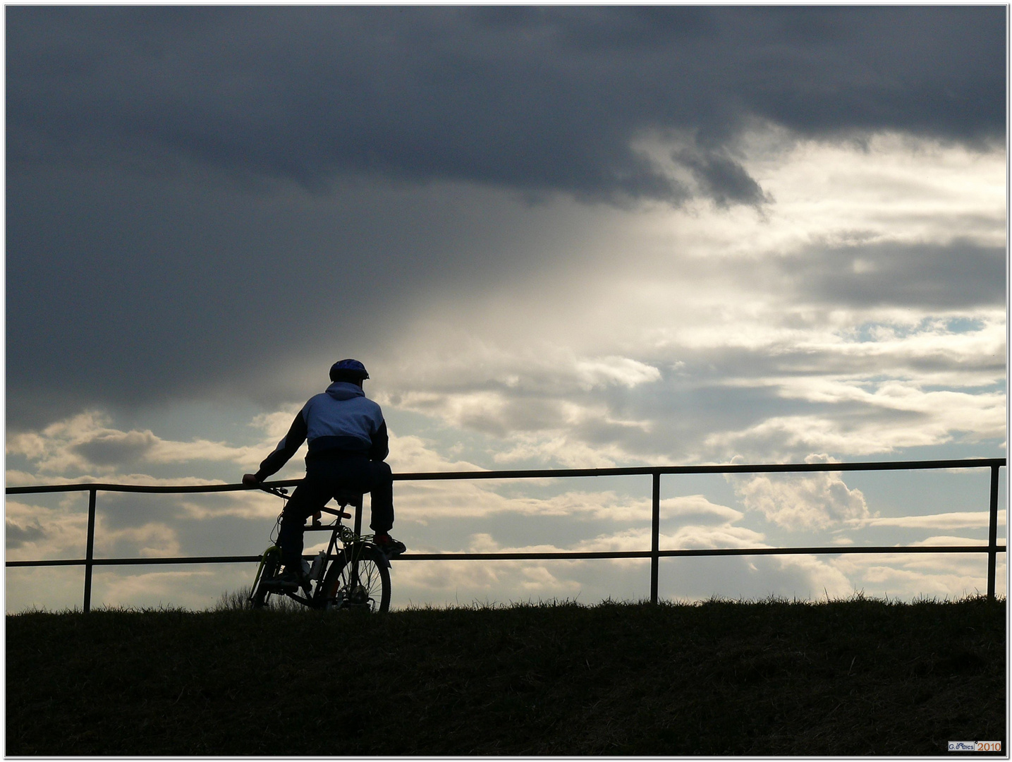 A biker and the sky