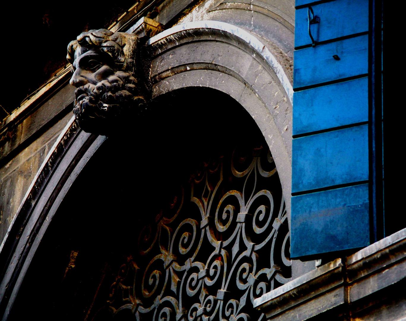 A BLUE SHUTTER