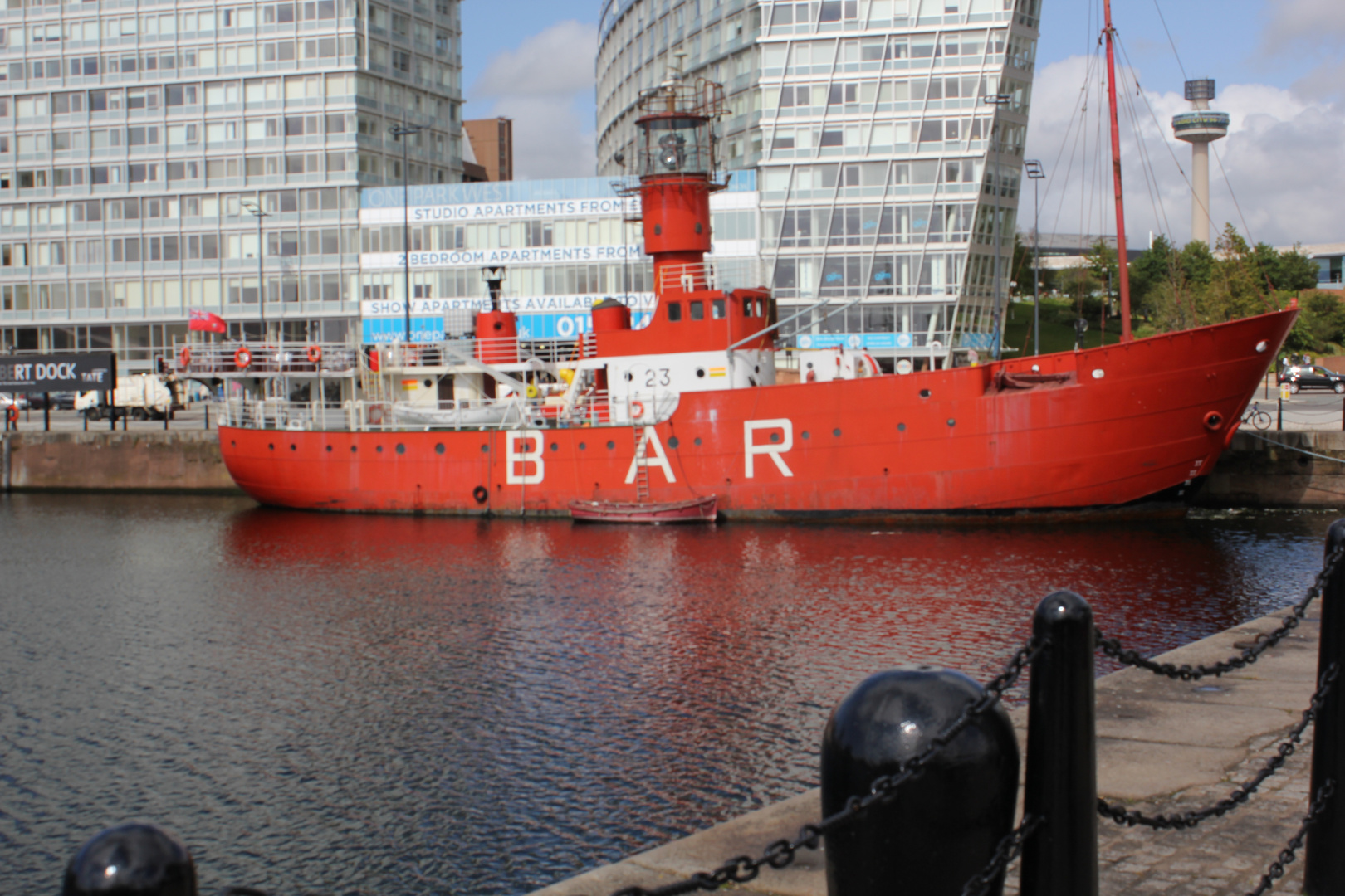 a boat in Liverpool