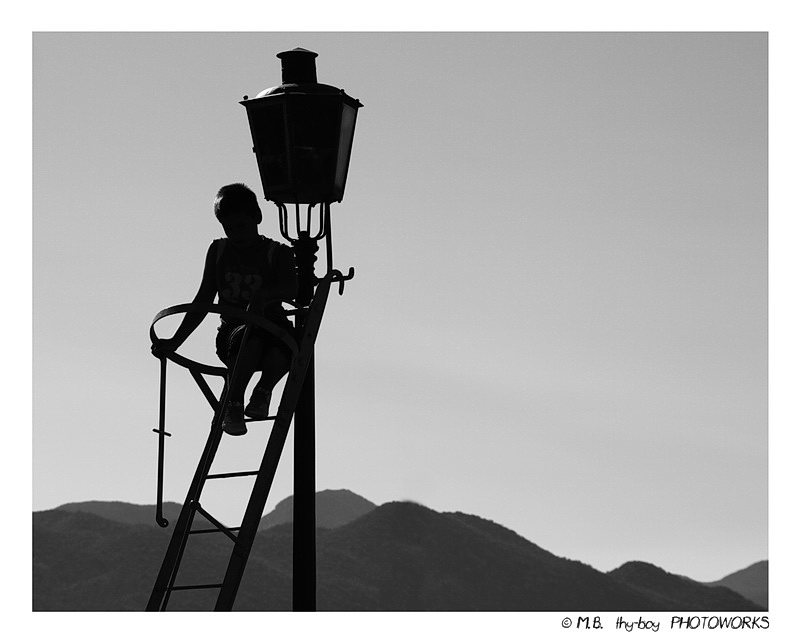 A Boy and a Lamp