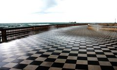 a chessboard on the sea