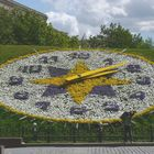 A clock of flowers in Moscow, The Victory Park.