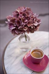 a cup of coffe