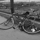 A desolated GDR Bike in the Warschauer Bridge, Berlin.