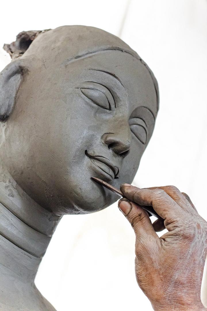A Durga Artist.