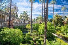A garden in the Alcazar of Seville