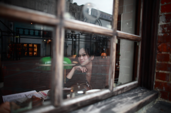 a girl in the Ximending.