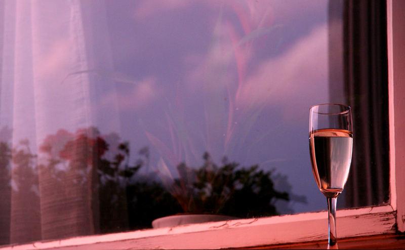 a glas of champagne...