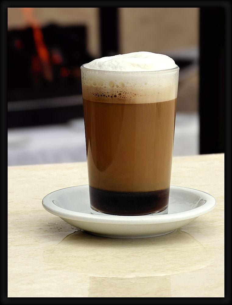 A glass of delicious cappuccino