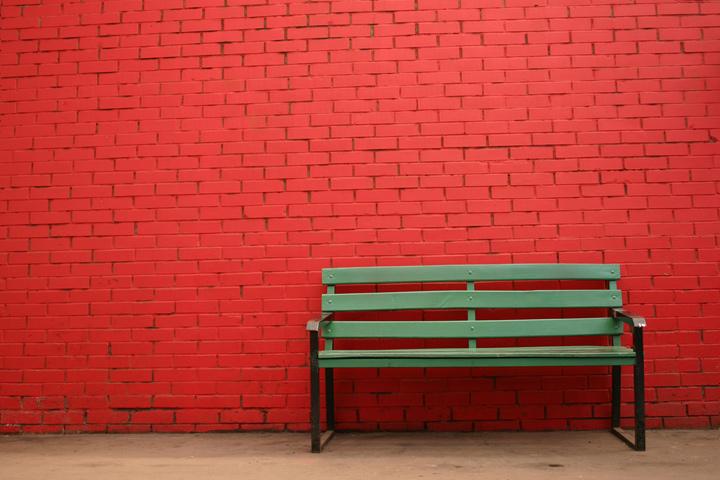 a happy bench