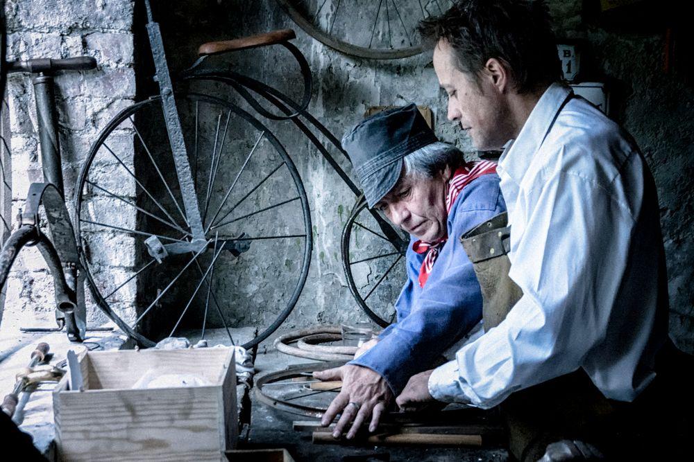 A l'atelier vélo