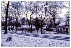 a little snow in the neigborhood
