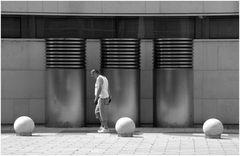 A man with three balls
