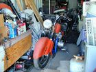 A Man's Motorcycle Mess