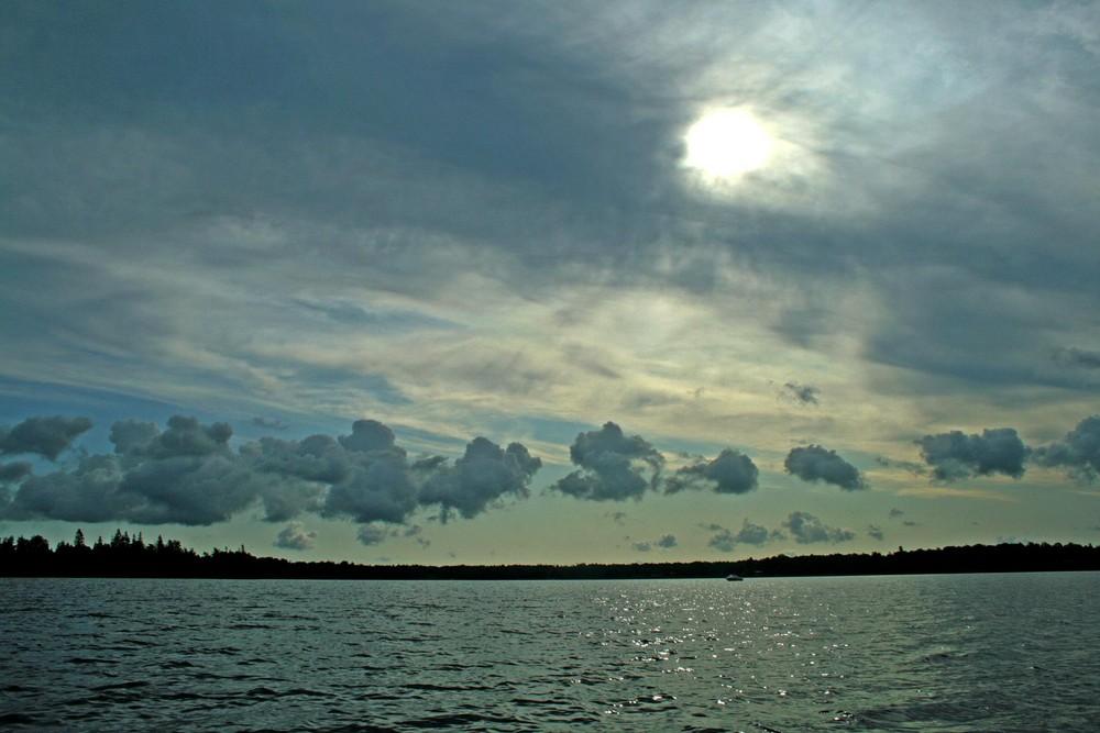 a morning in the lake bolmen, sweden