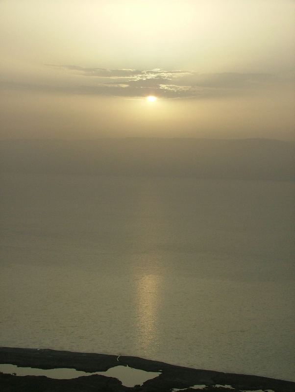 a new day in the dead sea..