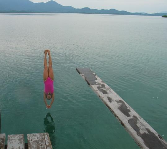 A perfect dive
