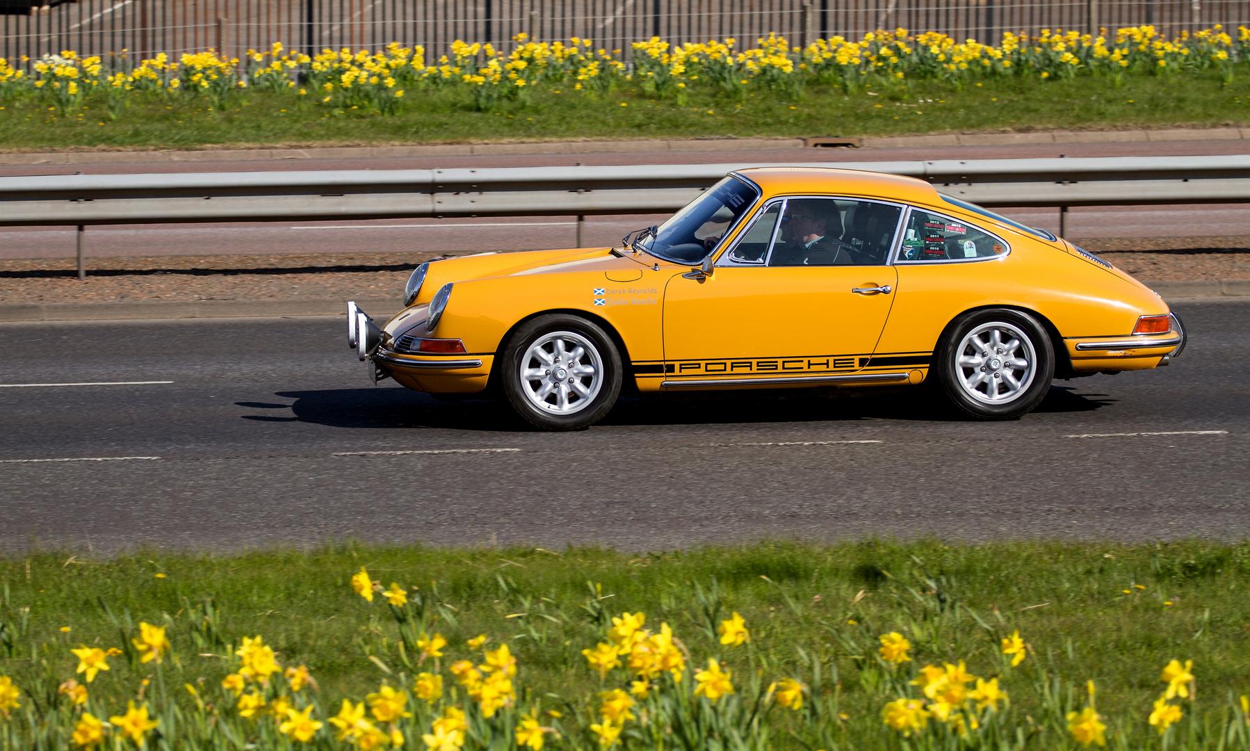 "A Porsche 912 sports car from the ""Porsche Club"""