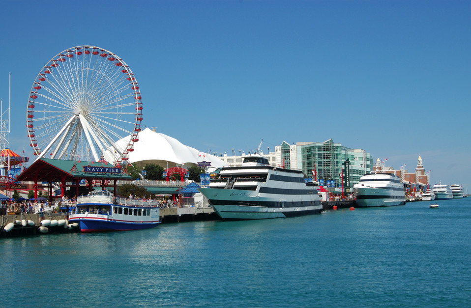 A postcard from Navy pier, Chicago