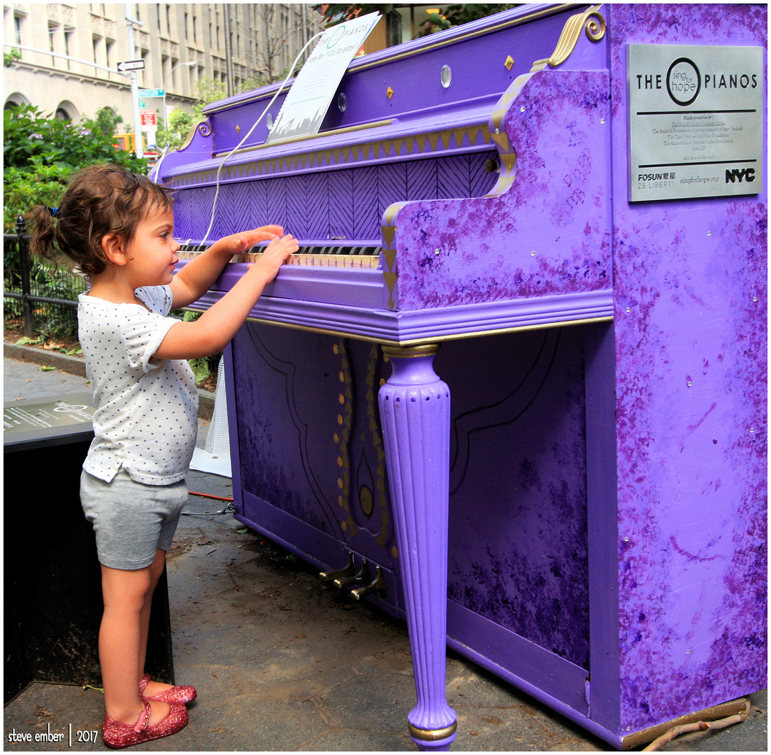A Purple Piano in the Park