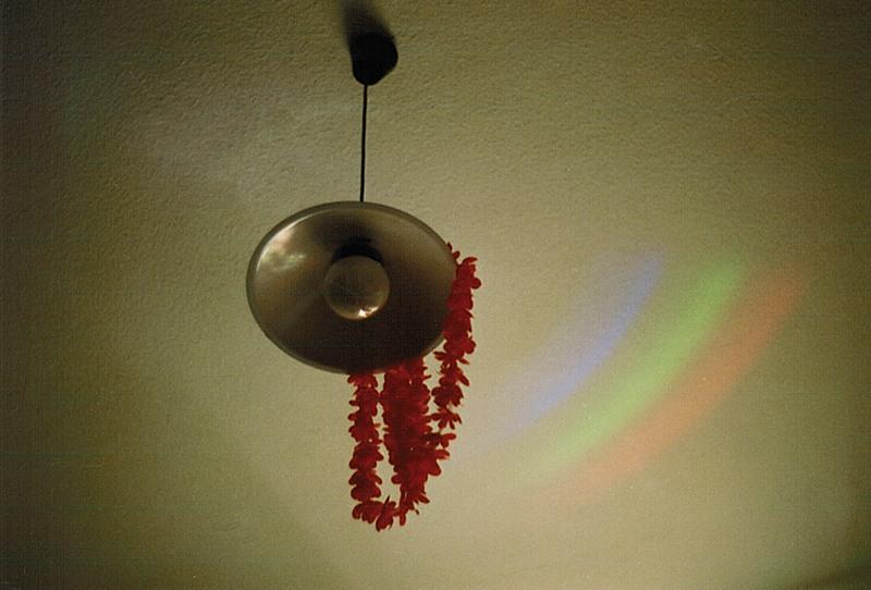..a rainbow on my ceiling..