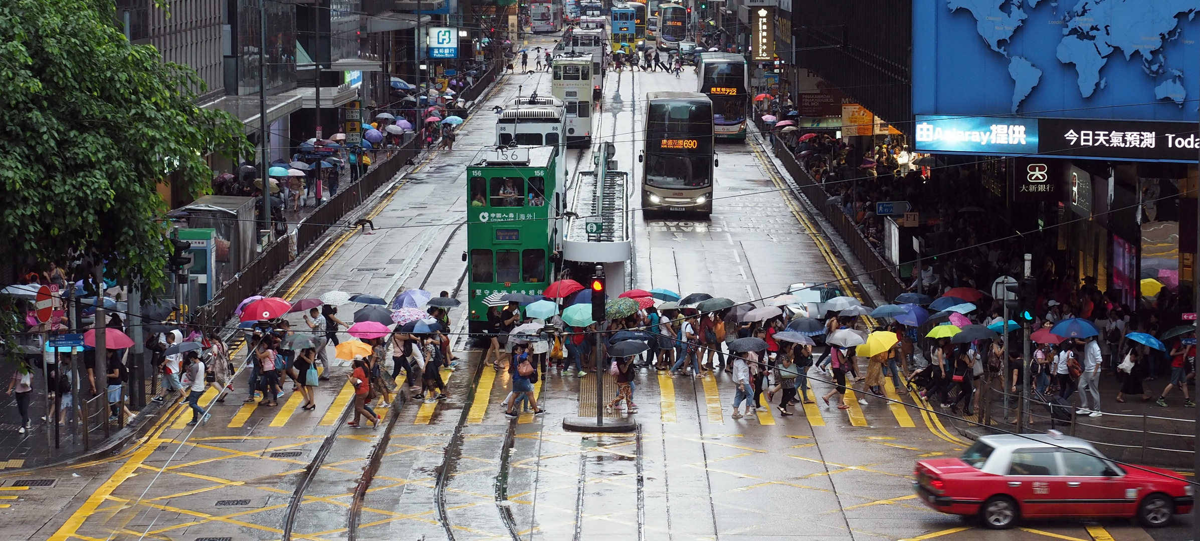 A Rainy Day in Hong Kong (in Farbe)
