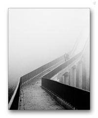 A road in the fog