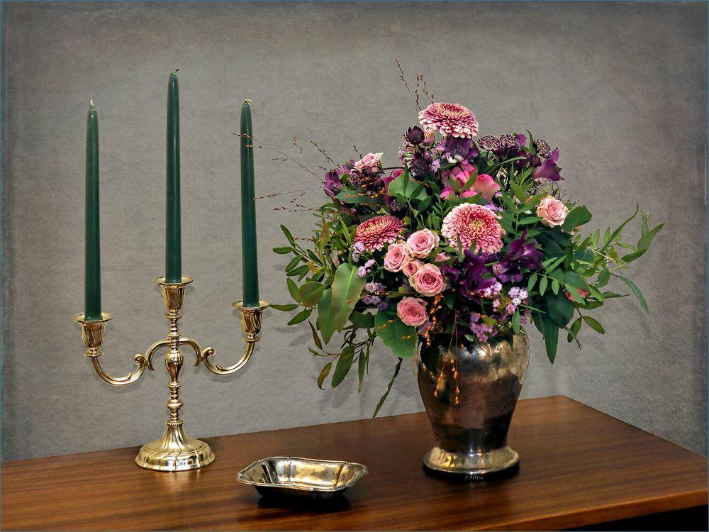 A September Bouquet w/- Silver