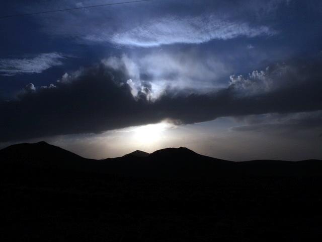 A sunset at sahand mountian