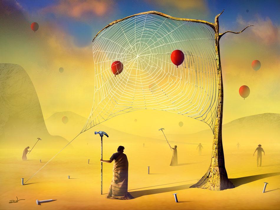 A Teia e os Balões.