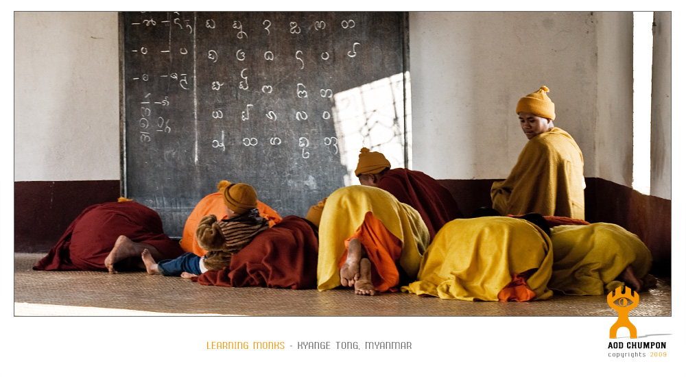 a temple`s morning school in Kyange Tong