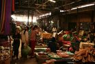 a typical market in Cambodia