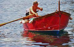 à venise un tour en gondole , en ligurie un tour en canot de peche.....