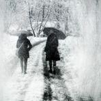 A WALK UNDER  THE SNOW