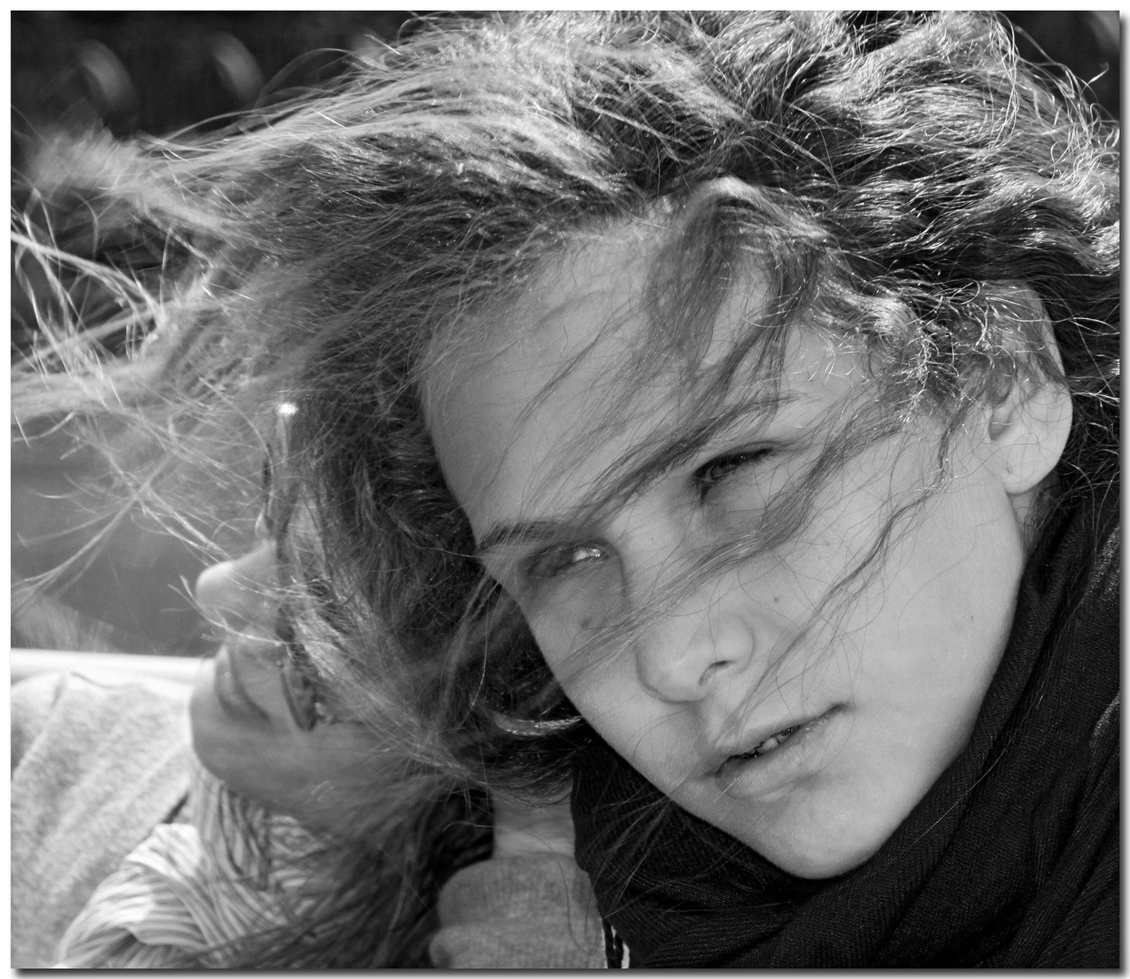 A windy portrait