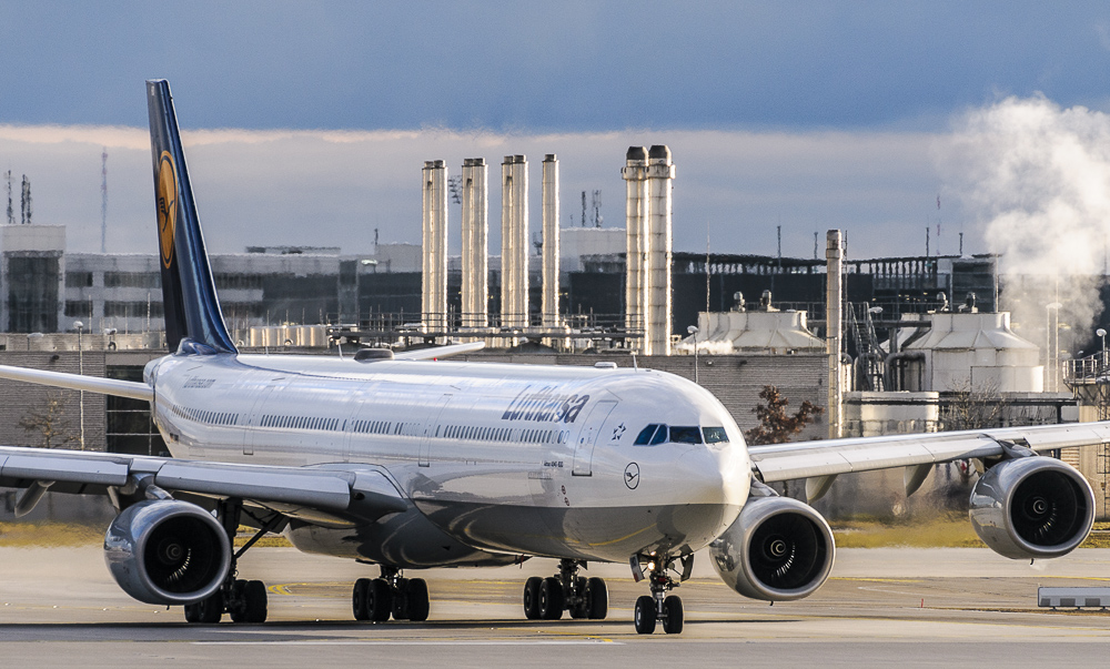 A340-600 vor dem Start