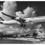 A340 Landung auf Sint Maarten N.A.