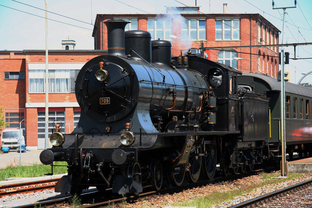 A3/5 705 im Bahnhof Arbon 1