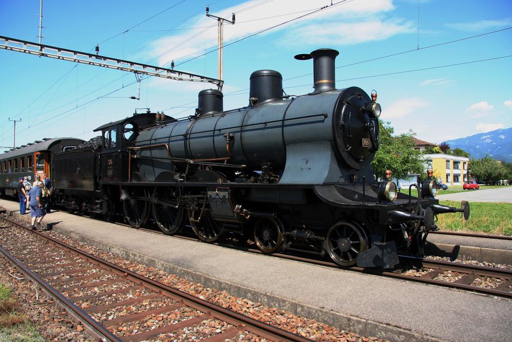 A3/5 705 im Bahnhof Oberriet