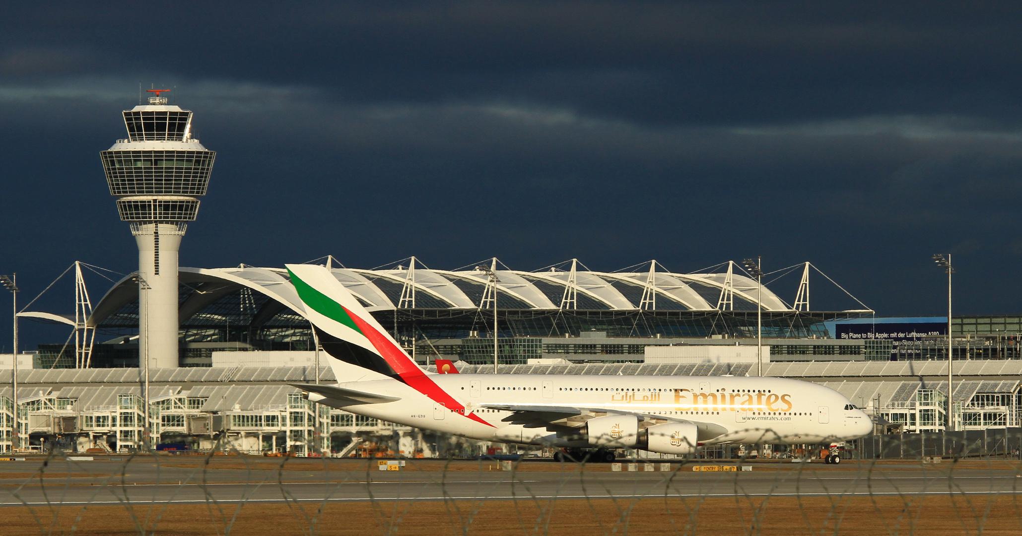 A380 am M-Flughafen