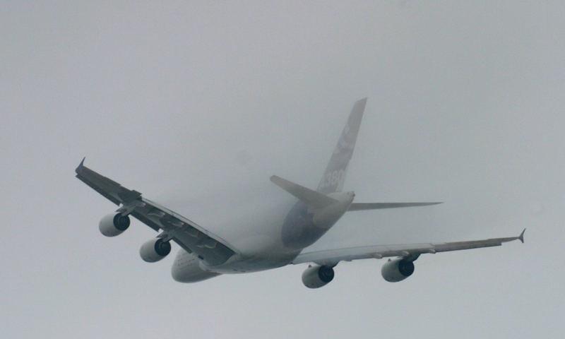 A380 auf dem Weg nach NY #1