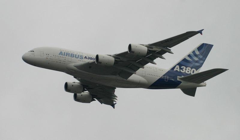 A380 auf dem Weg nach NY