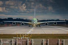 A380 in grün...