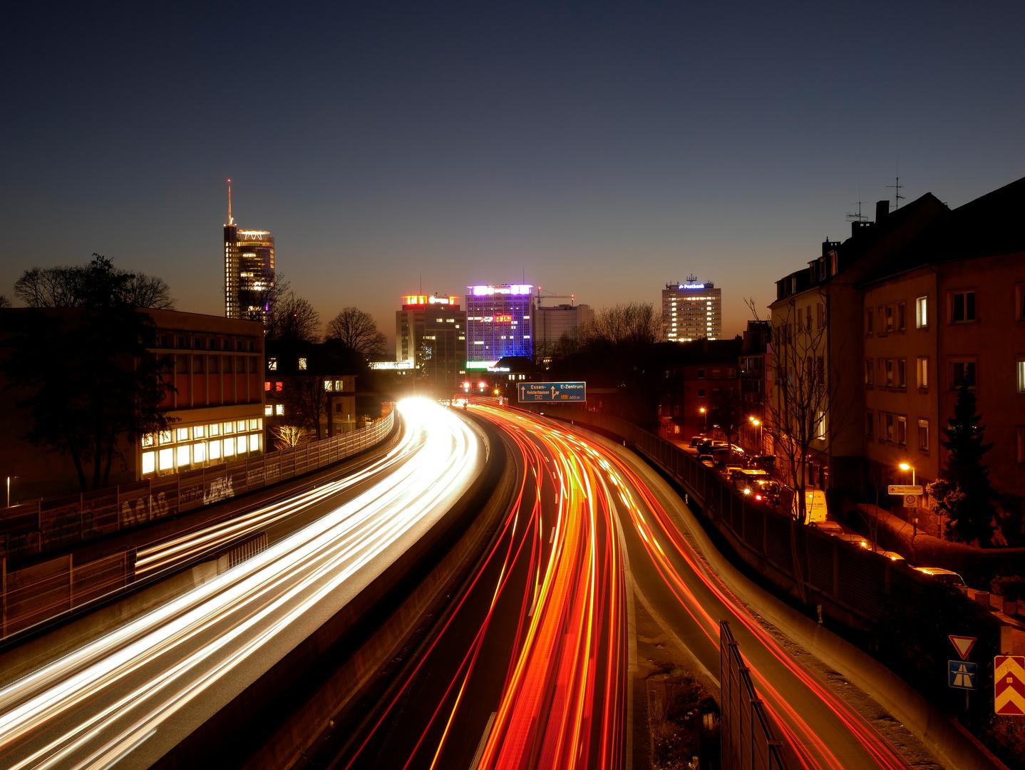 A40 bei Nacht