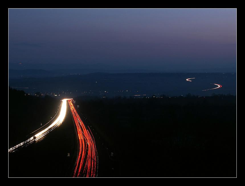 A81 Nachts