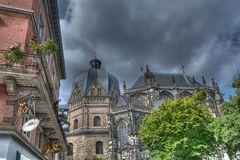 Aachen bei schlechtem Wetter