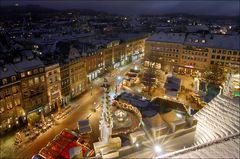 Aachener Marktplatz zur Weihnachtszeit